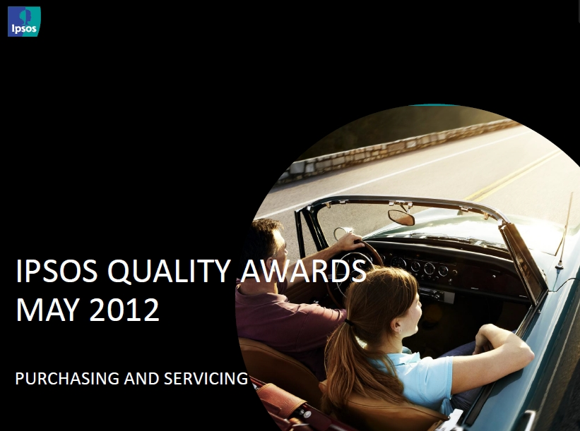 2012 Ipsos Quality Awards for Sales and Service Experience